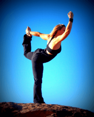 Woman Doing Yoga as Alternative Health Technique